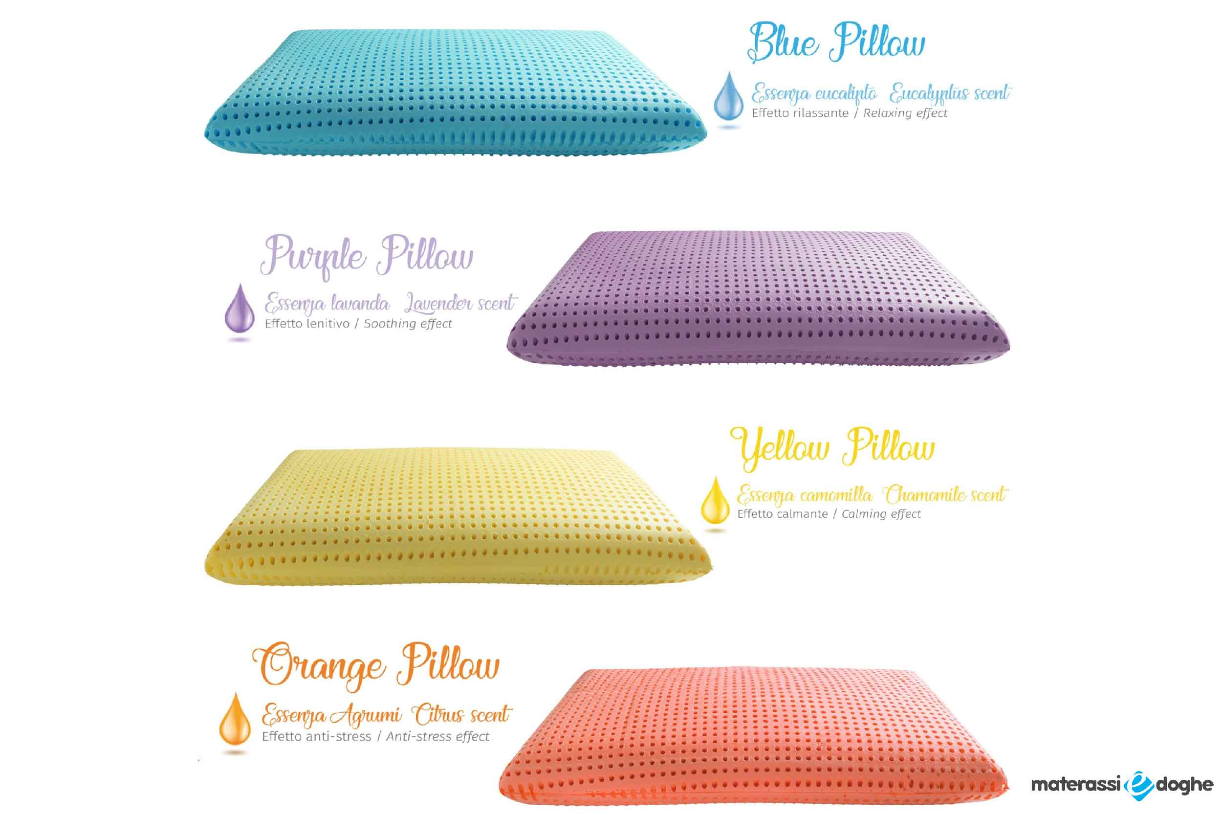 Water-based Memory Foam Pillow Enriched With Natural Essences, Highly Breathable