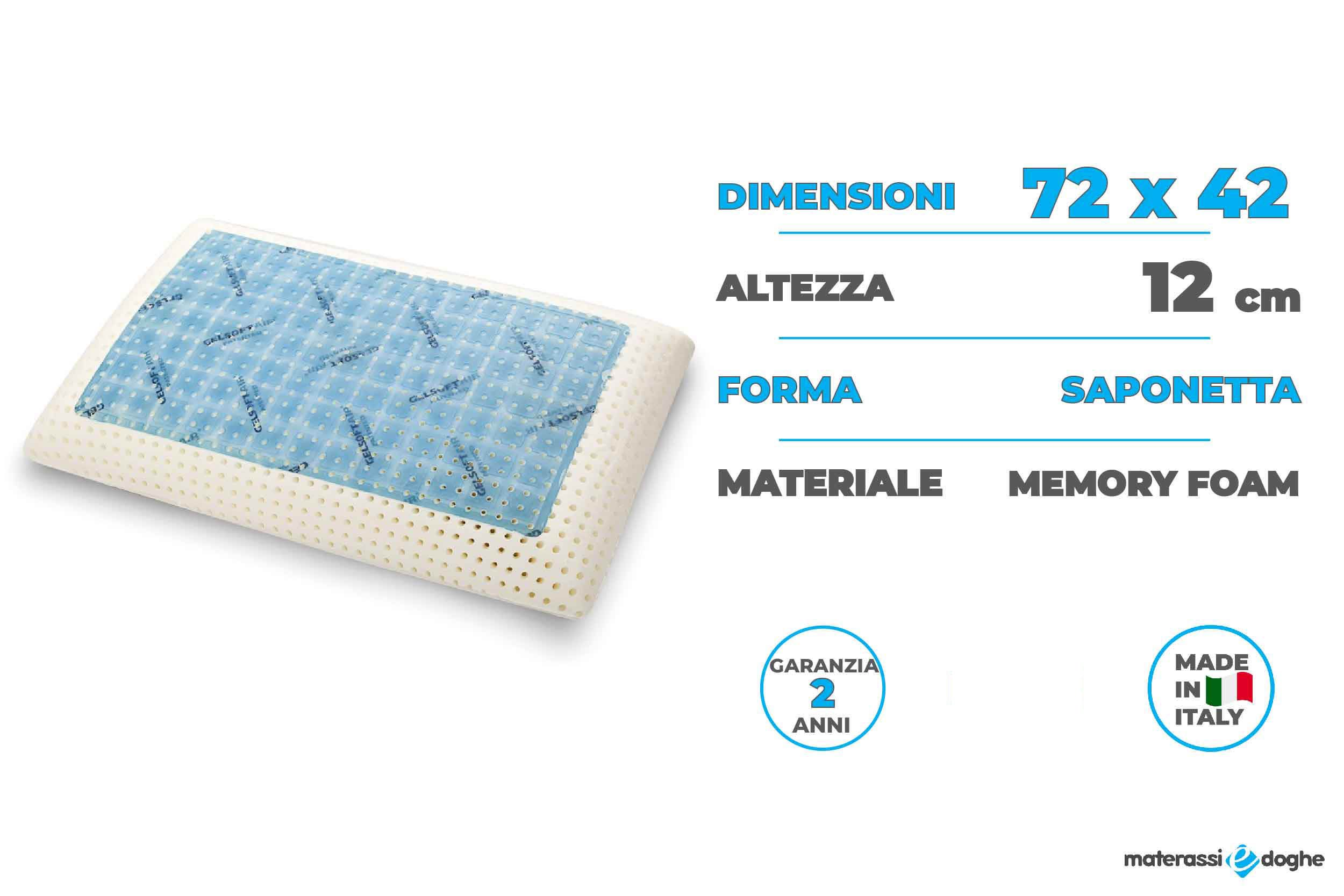 Memory Foam Mattresses And Pillows 100 Made In Italy Materassi E Doghe
