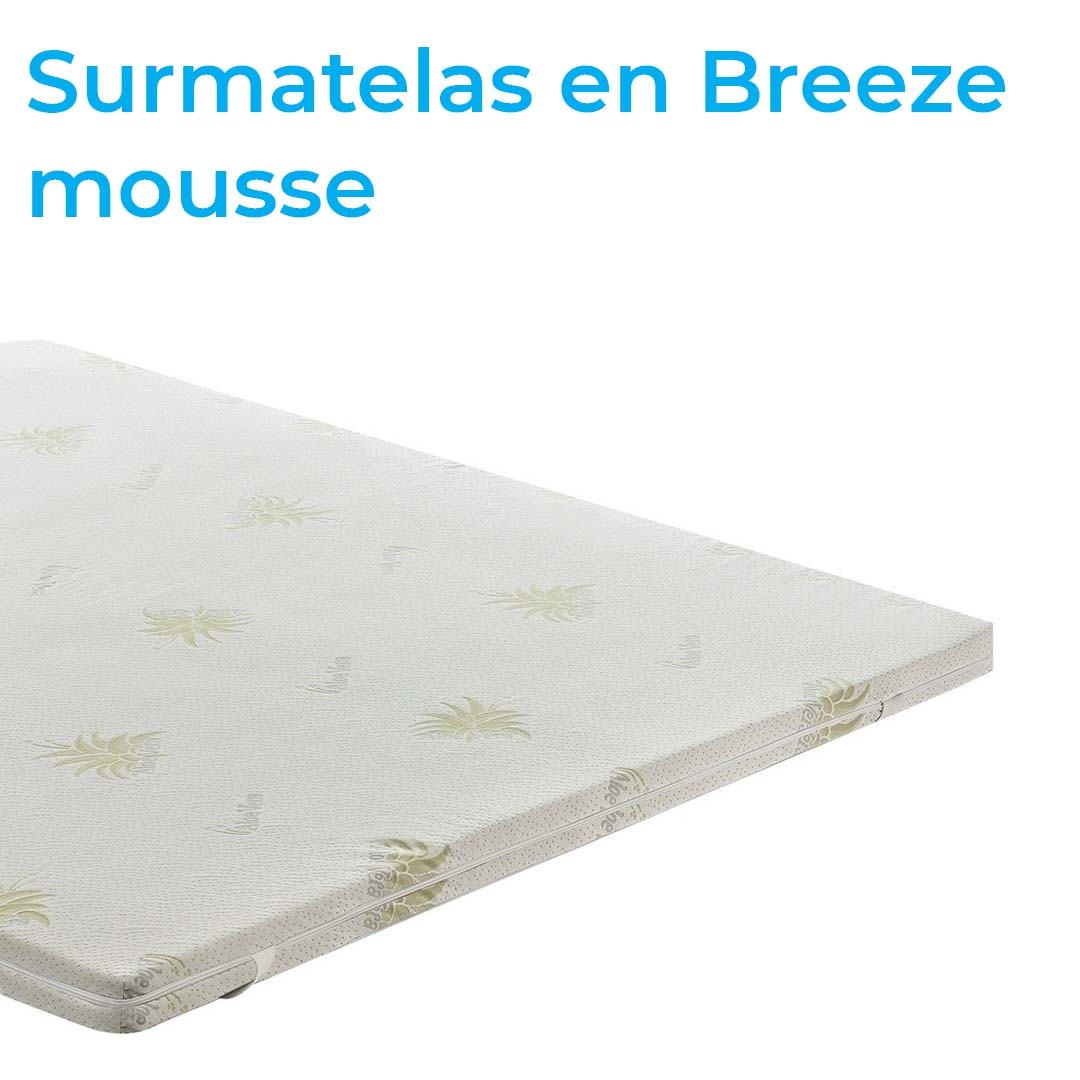 Surmatelas en Breeze mousse